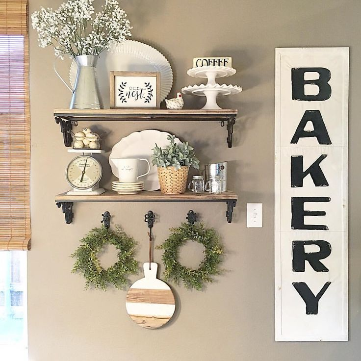 Kitchen Shelf Decor Ideas: Farmhouse Gallery Wall Ideas 120