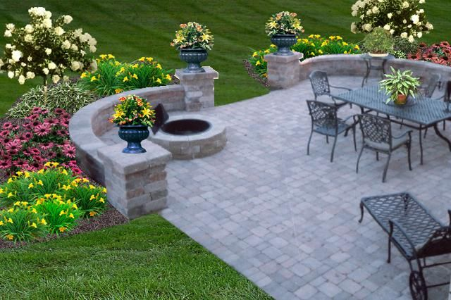 Fire pit seating ideas 103 decoratoo - Garden patio ideas pictures ...