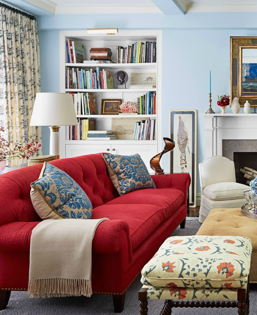 28 red and white living rooms interior design ideas