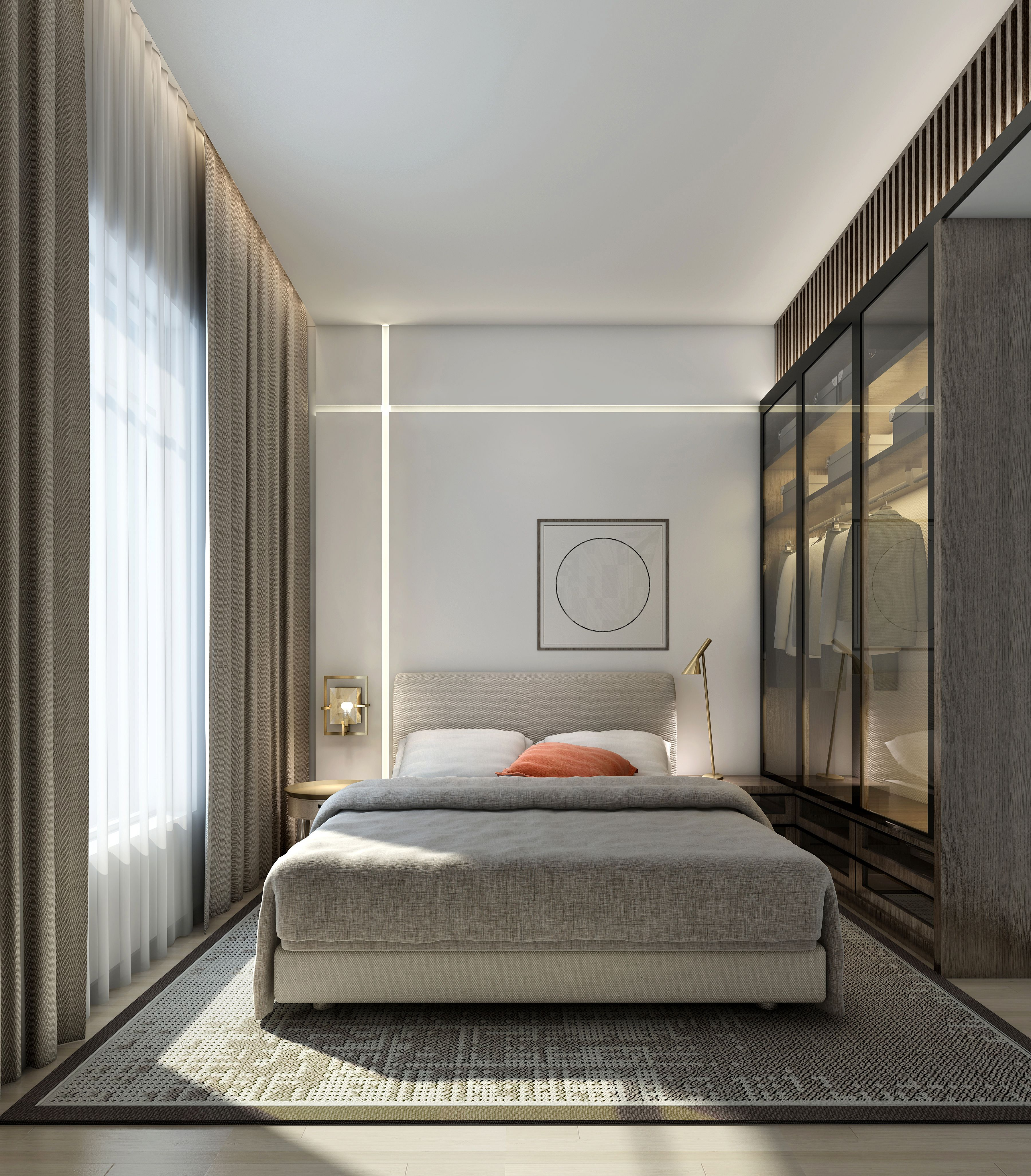 Contemporary Small Apartment Interior Design: Small Apartment Bedroom Decor 121