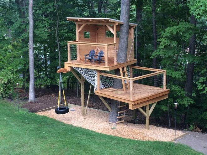 20 DIY Tree House Plans & Design Ideas for Adult and Kids ...